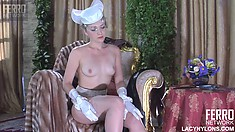 Linda gets rid of silk but keeps all her sexy smooth nylon on
